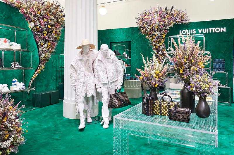 louis vuitton virgil abloh spring summer 2020 pop up release information keepall 50 flowers bag buy cop purchase address opening details