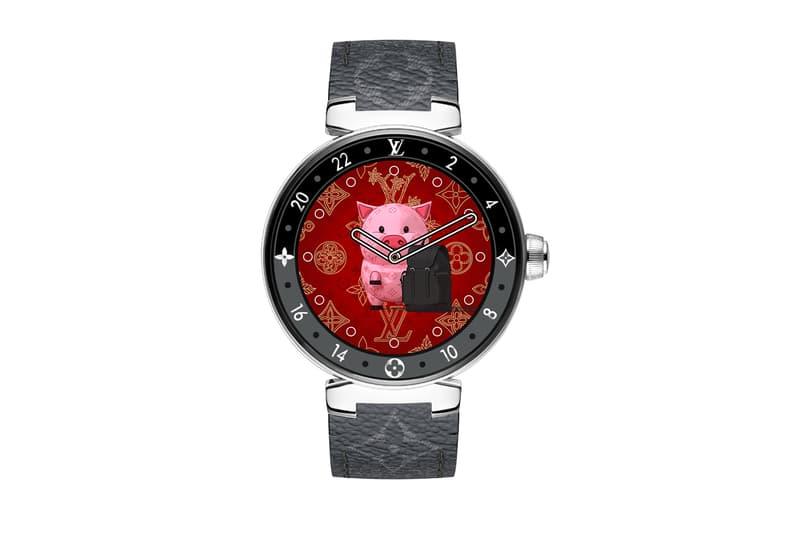 Louis Vuitton Tambour Horizon Monogram Eclipse Quadranti cinesi di nuovo anno Info sulla versione 2020 Zodiaco cinese topo bue tigre coniglio drago serpente cavallo capra gallo scimmia cane maiale Collegato orologio smartwatch
