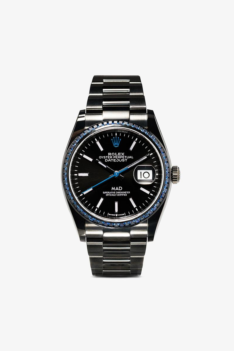 MAD Paris Black Rolex Datejust 36 Sapphire Stainless Steel Watch Release Info black stainless steel drop date price details images where to buy w2c browns oyster perpetual