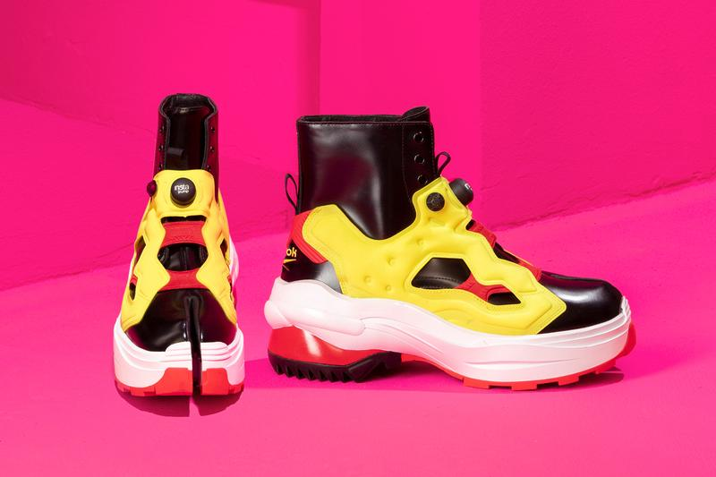 Maison Margiela reebok tabi instapump fury red yellow release date info photos price