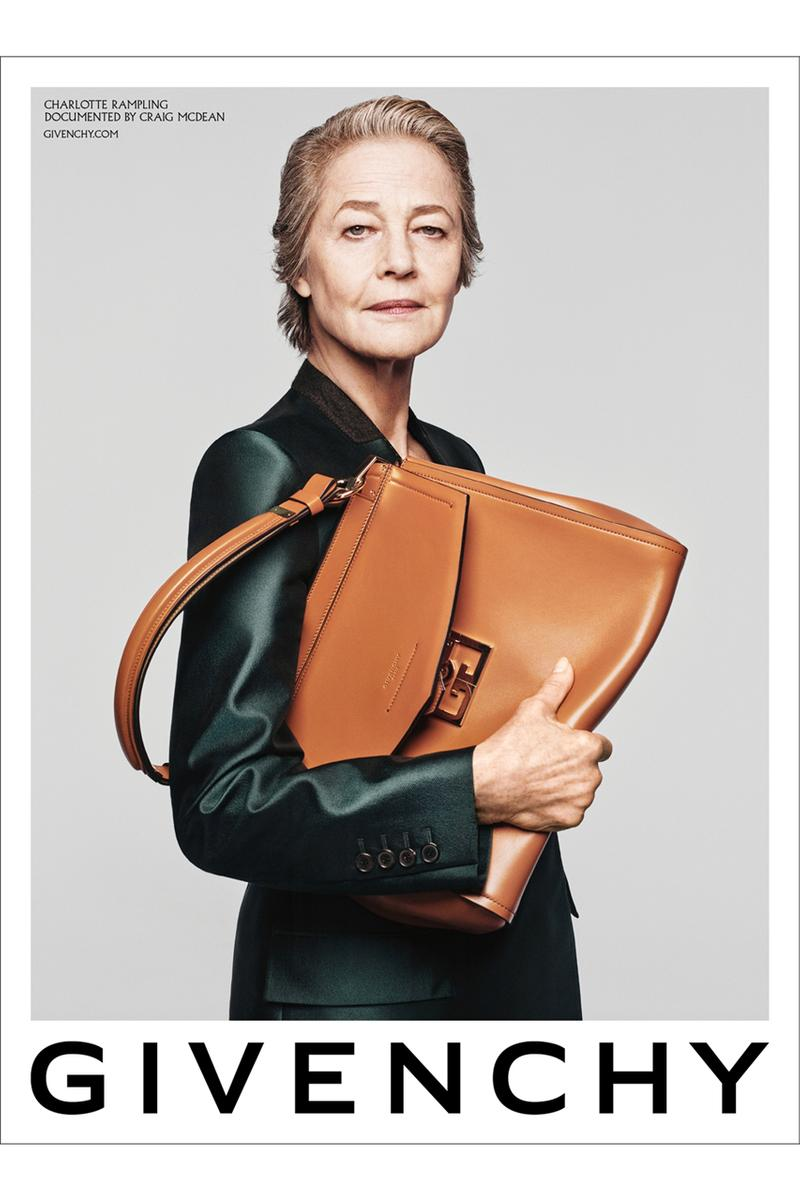 Givenchy Spring/Summer 2020 Campaign Charlotte Rampling Marc Jacobs Bond Bags Accessories