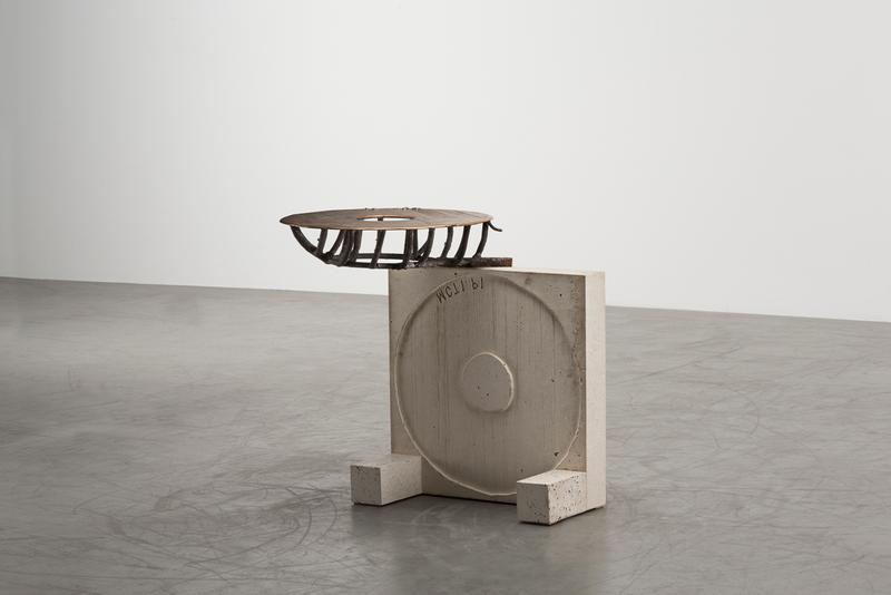 "Martin Laforêt ""Inside Out"" Exhibition Carpenters Workshop Gallery Oak Bronze Concrete Lamps Coffee Tables"
