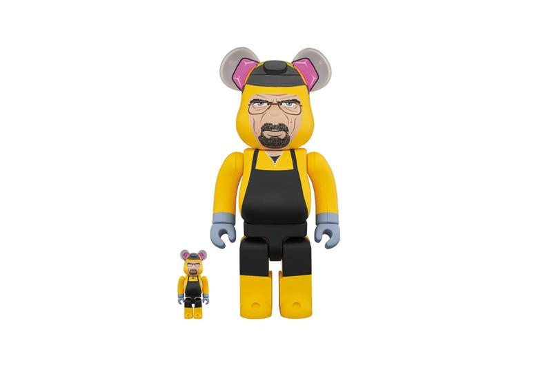 Medicom Toy BEARBRICK Breaking Bad Chemical Protective Clothing Japanese figures collectibles burnt pink teddy bear 100 400 gus fring season 2 tv shows series television drama
