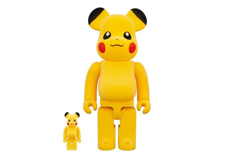 Medicom Toy BEARBRICK Pikachu 100 400 japanese graphics artwork novelties accessories collectibles plastics miniatures sculptural toymakers figures model pokemon gotta catch em all