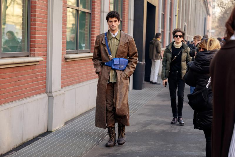 Street Style at Milan Fashion Week Fall/Winter 2020 fw20 menswear mfw snaps streetstyle