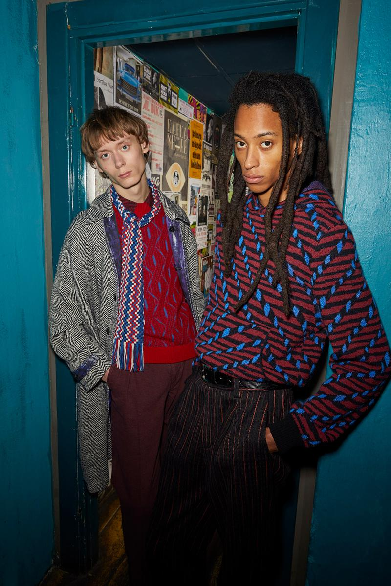 Missoni Man Fall/Winter 2020 Lookbook Collection Knitwear Cardigans Jacquards Trousers Bombers Coats Chelsea Boots Blousons Patchwork