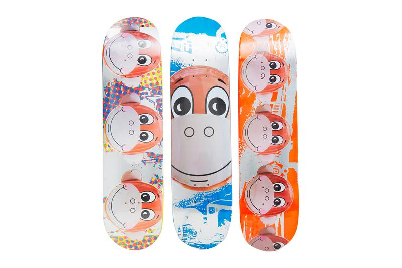 Supreme Rare Artist Skate Decks resurfaces moda operandi Damien Hirst Richard Prince Christopher Wool Jeff Koons modern monkey train spin painting collectibles decks skateboards