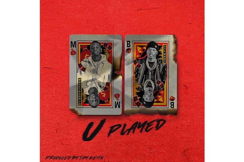 MoneyBagg Yo featuring Lil Baby U Played Song Stream single new year 2020 rapper hip hop atlanta atl memphis southern 808 tay keith synth trap bars verses rap beat production