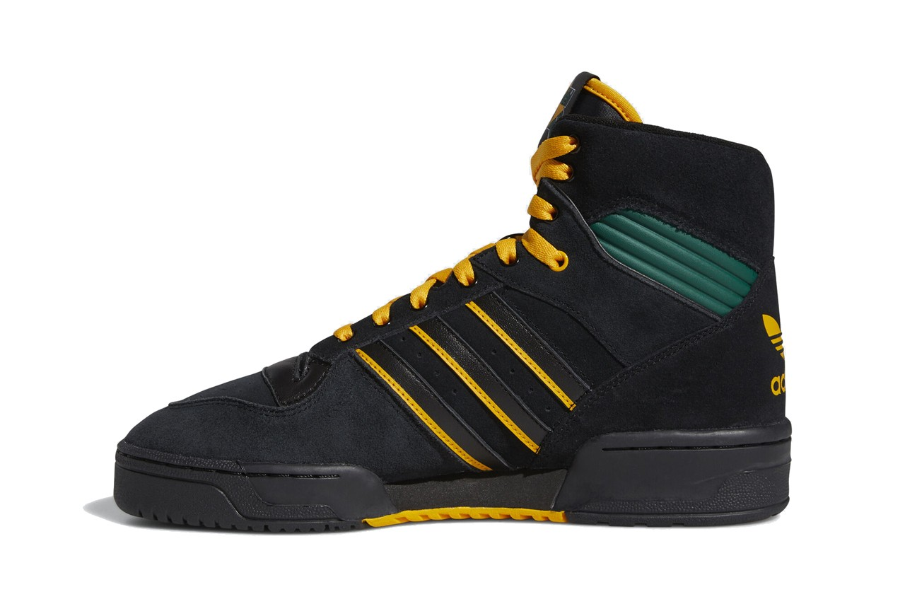 na kel nakel smith adidas rivalry hi FX2550 core black collegiate gold green release date info photos price