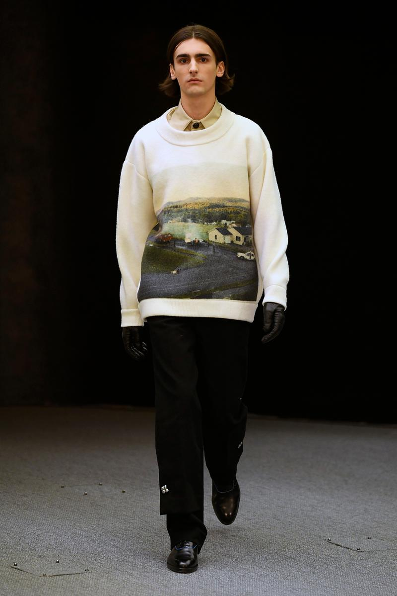 "Namacheko Fall/Winter 2020 Runway Collection Paris Fashion Week Gagosian Gallery Gregory Crewdson ""Somnambulism"" Photographs America Suburbia Capes Dresses Jackets Coats Sweatshirts Shirts"