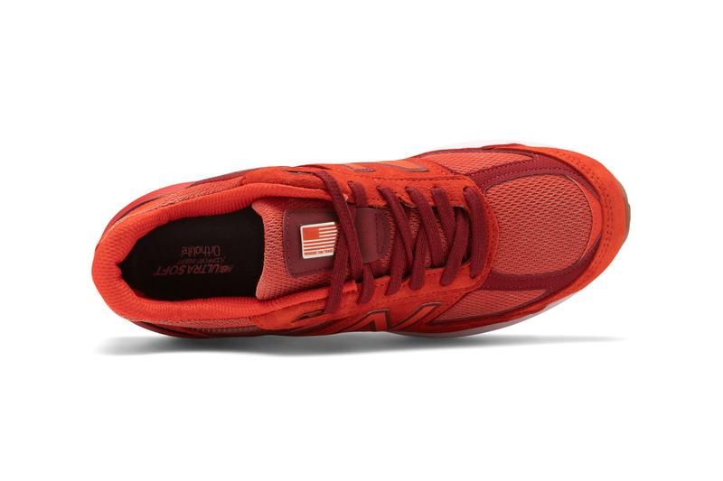 """New Balance made in US M990v5 """"Molten Lava/Fireball"""" Release Info drop date price M990V5-28807 code"""