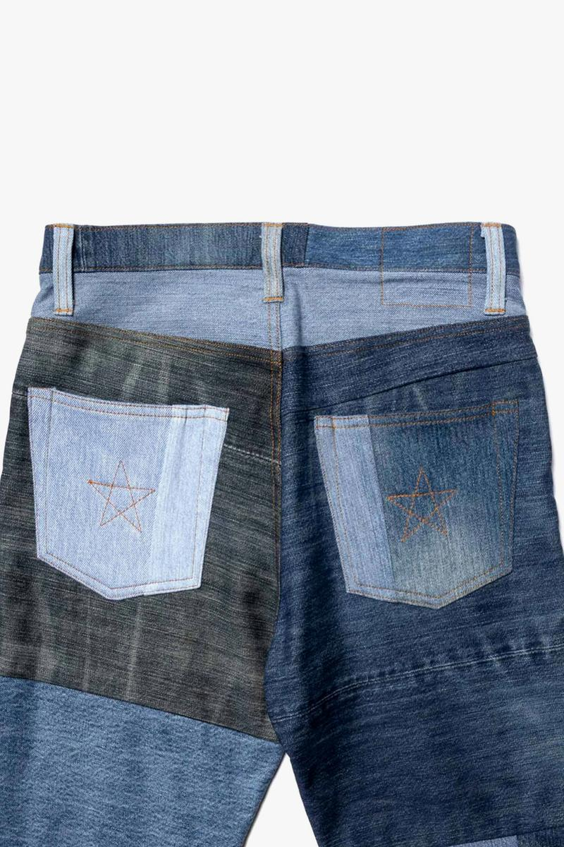 NEXUSVII Patched 550 Indigo Damaged hand distressed Regular fit five pocket design dye Made in Japan star stitching trousers pants jeans spring summer 2020 japanese zip fly