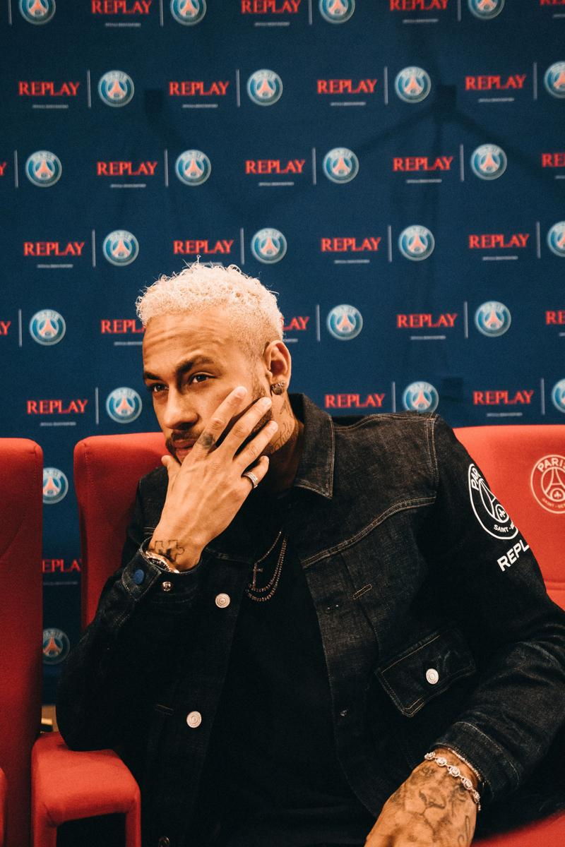 Neymar Jr. PSG x Replay Collection Interview paris saint germain collaborations interviews paris parc des princes football soccer denim capsules