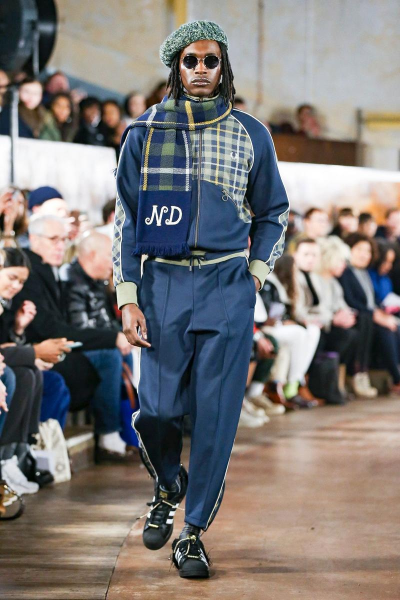nicholas daley fred perry adidas tricker's george cox lavenham collection fall winter 2020 lfwm london fashion week mens backstage first look collaboration stockists