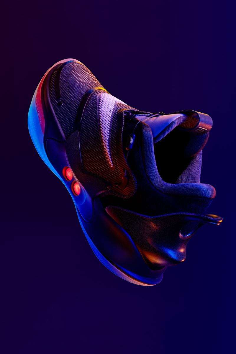 nike adapt bb 2 0 self power lacing shoes black white red ja morant release date info photos price