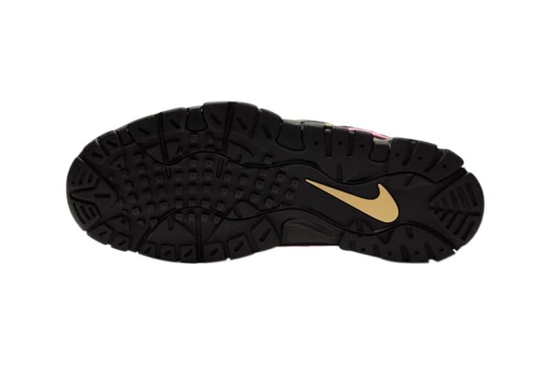 nike air barrage low qs sneakers black infinite gold pink blast colorway release style no ct8454 001
