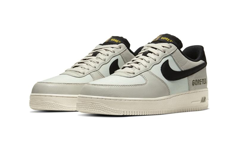 Nike Air Force 1 GORE TEX Light Bone Medium Olive Medium Olive Saffron Quartz GTX weatherized waterproof sneakers shoes footwear kicks runners trainers swoosh CK2630 002