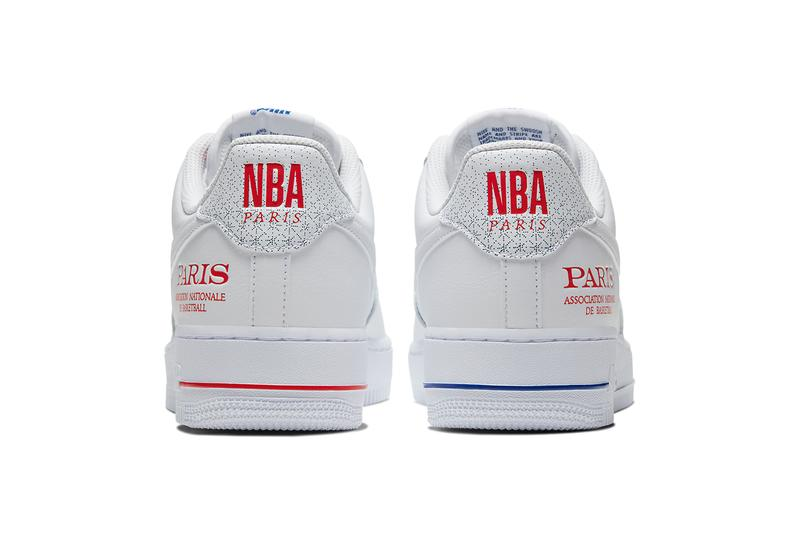 nike air force 1 nba global games paris game france french white university red adrenaline blue CW2367 100 release date info photos price