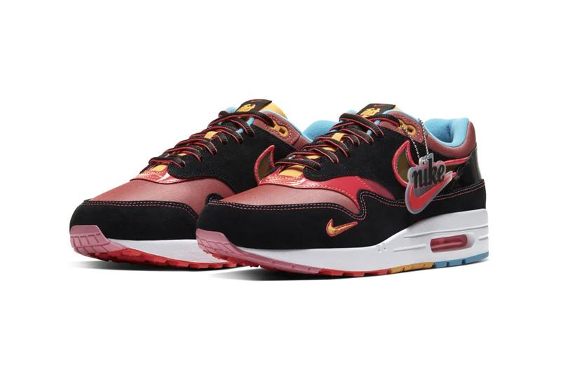 Nike Air max 1 new york chinatown nycc release information red maroon black light blue gold pink buy cop purchase order chollima winged horse