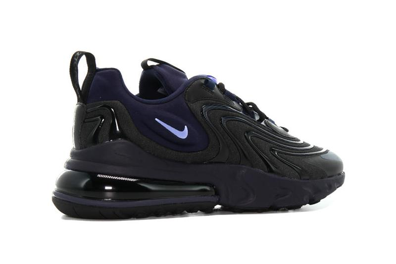 Nike Air Max 270 React ENG Black Obisidian footwear shoes sneakers kicks runners trainers spring summer 2020 swoosh oregon CD0113 001 purple sapphire air unit cushioning performance footwear