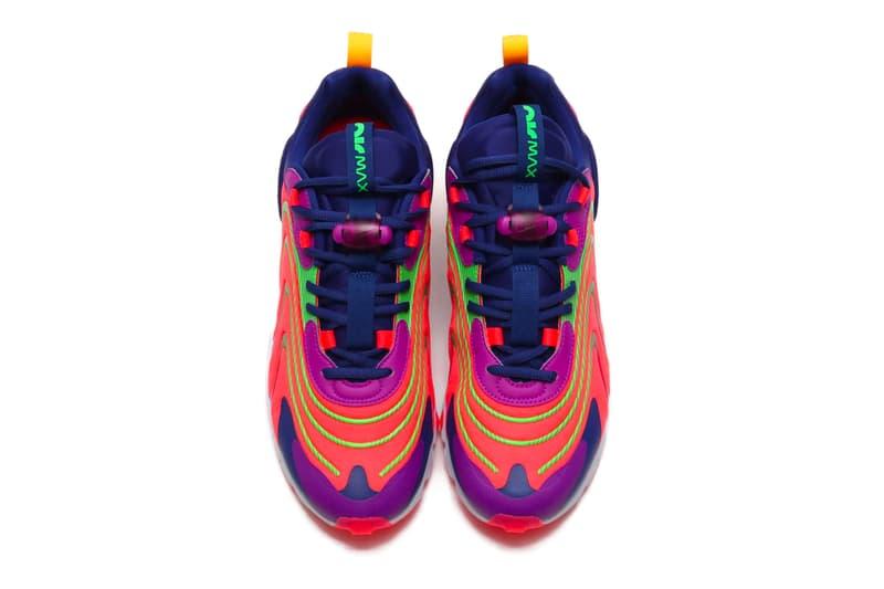 Nike Air Max 270 React ENG Laser Crimson Laser Orange VOLT PLATINUM TINT SOAR TOTAL ORANGE cd0113 401 601 sneakers shoes footwear kicks runners trainers swoosh spring 2020