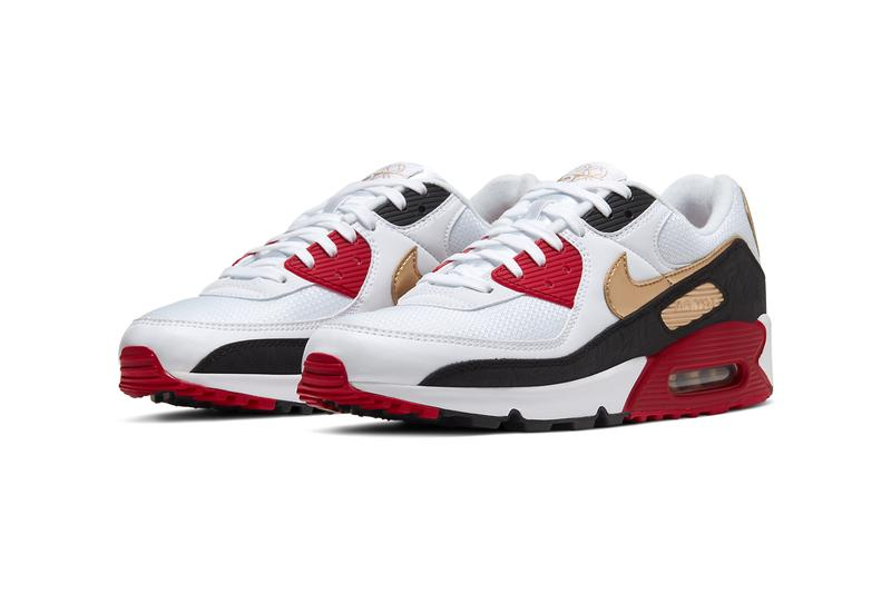 nike air max 90 chinese new year cny CU3005 171 white black metallic gold crimson release date info photos price