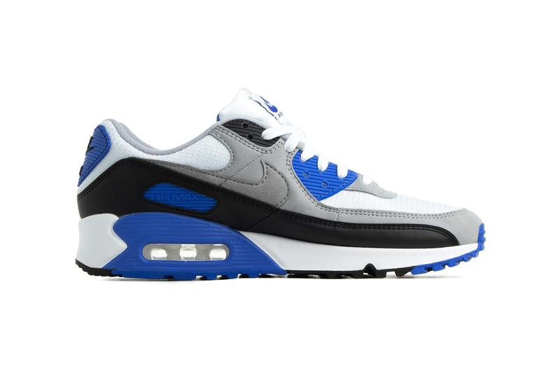 nike air max 90 white particle grey hyper royal black 30th anniversary cd0881 102 release date info photos price