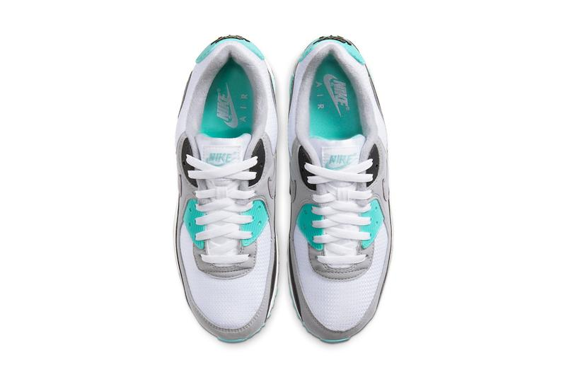 nike air max 90 30th anniversary volt hyper turquoise grape white particle grey black cd0881 100 103 release date info photos price