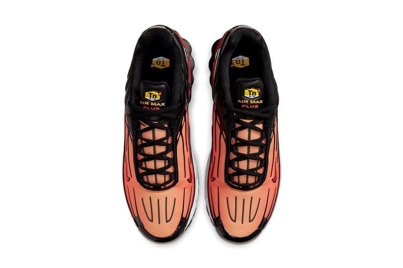 nike air max plus 3 iii CD7005 001 black bright ceramic resin pimento sunset orange release date info photos price