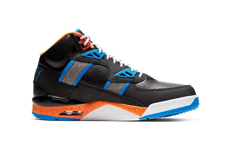 nike air trainer sc new york knicks mets black rust factor orange photo blue bombay CU6672 001 bo jackson release date info photos price