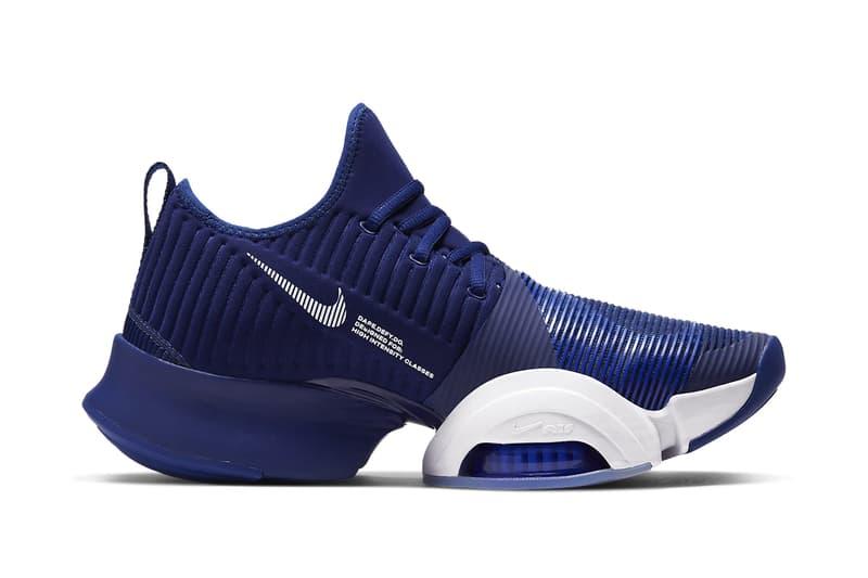 Nike HIIT-Focused Air Zoom SuperRep Drops in Blue Void sneaker footwear kicks trainings HIIT Circuit training sports gym exercise footwear sneakers cardio