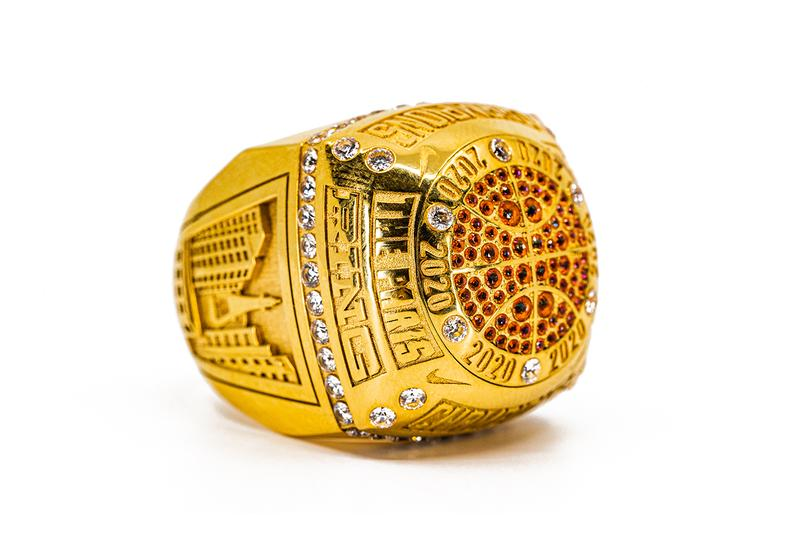 Nike Unveils Champion's Ring for Grand Paris Basketball League First Look Gold Diamonds Swoosh Jewelry Winners Prize NBA Model 'The Paris Ring'  Playoffs