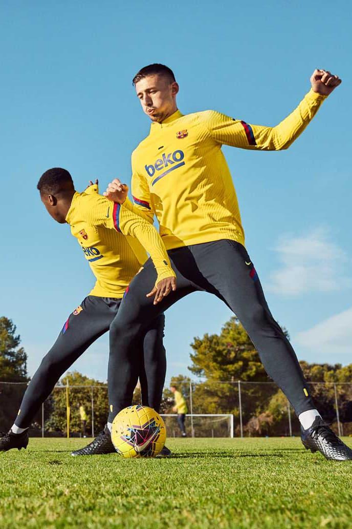 Nike NextGen VaporKnit Barcelona Training Kit football soccer la liga 2020 catalan flag yellow volt navy