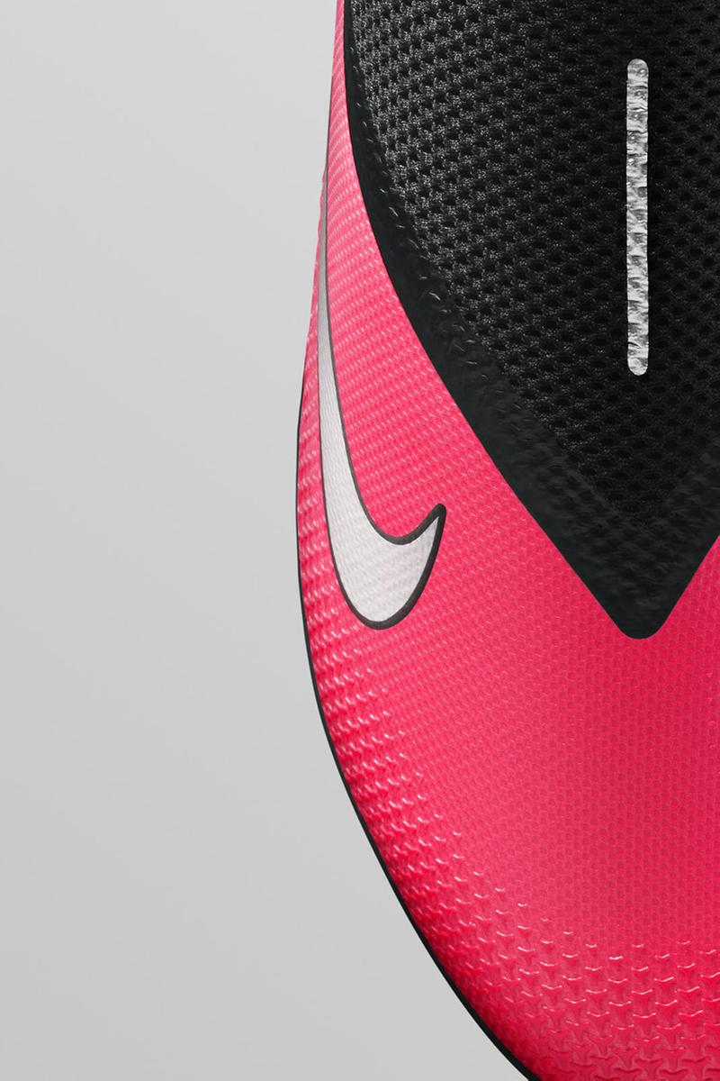 Nike phantom vsn2 football boot attacking soccer release details information buy cop purchase black pink ghost lace system flyknit
