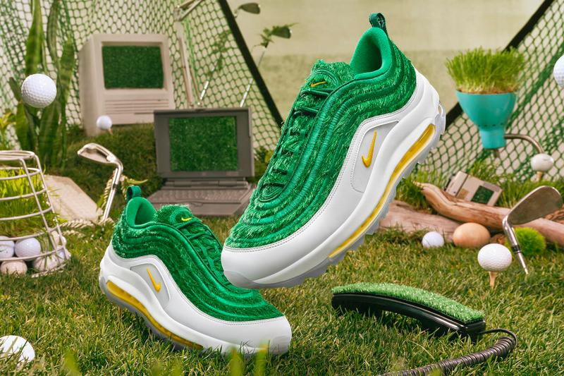 Nike Golf Air Max 97 G Grass Release Info Buy Price White Green yellow