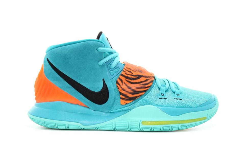 "The Nike Kyrie 6 ""Oracle Aqua"" Gets Loud With Animal Print"