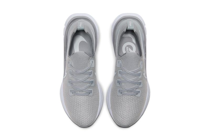 nike react infinity run wolf grey cool grey metallic silver white CD4371 003 black dark grey white 002 release date info photos price