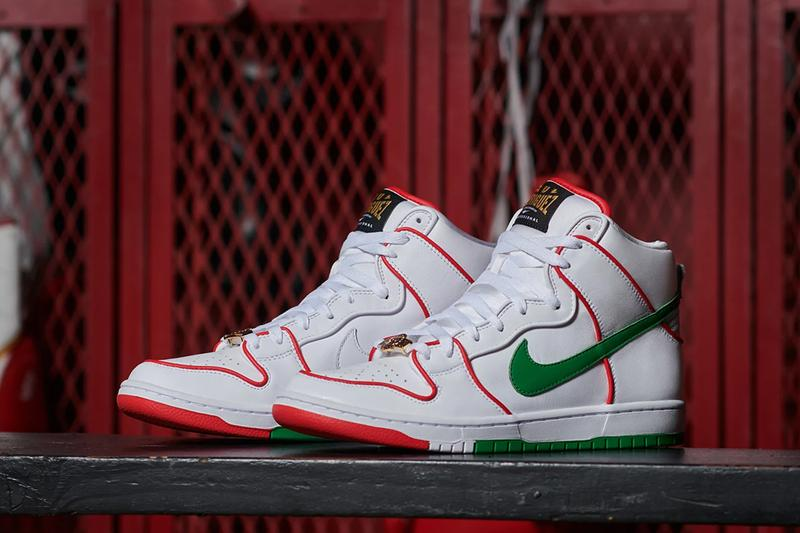 nike sb dunk high paul rodriguez p rod white red green boxing mexico mexican CT6680 100 release date info photos price