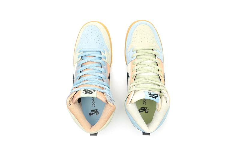 """Nike SB Dunk High Pro """"Easter Spectrum"""" Release Information Closer Look First Announcement Skateboarding Kicks Global Drop Footwear Colorful QS Suede Limited Edition"""