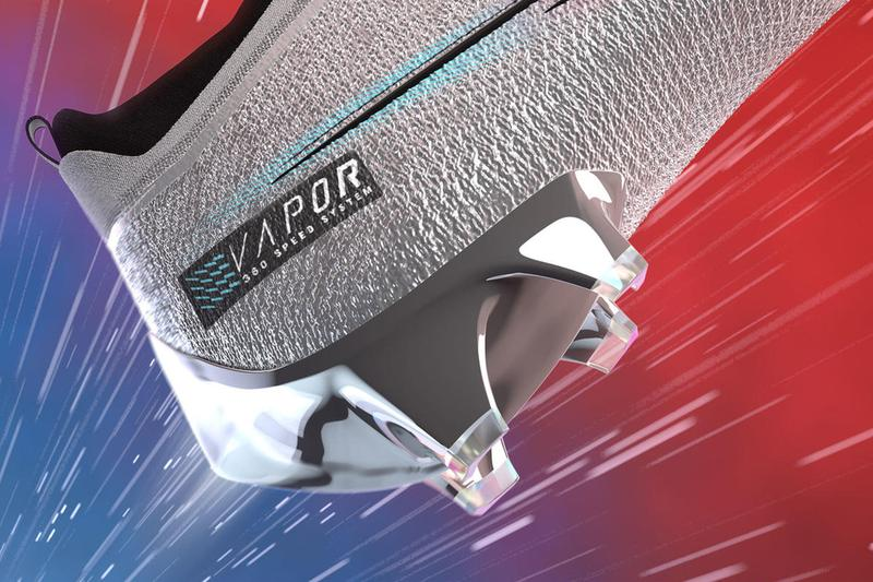 Nike Vapor Edge Pro Elite 360 Premium Football Cleat Release Info Date Buy Price Metallic Platinum Baltic Blue White Bright Crimson CD0085-001 Super Bowl LIV