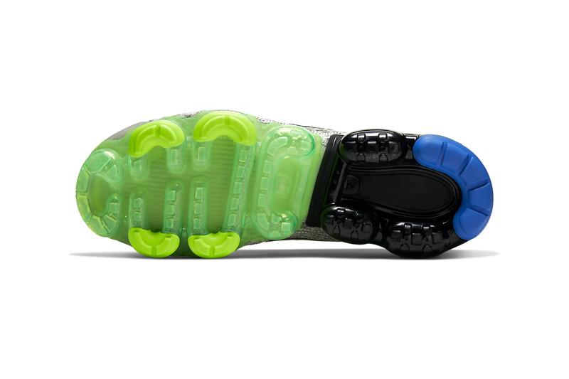 Nike Air Vapormax Flyknit 3 Vast Grey Black Dark Stucco Volt glossy sneakers shoes footwear runners mens kicks swoosh beaverton trainers fall winter 2020 collection AJ6900 010 sprite colors