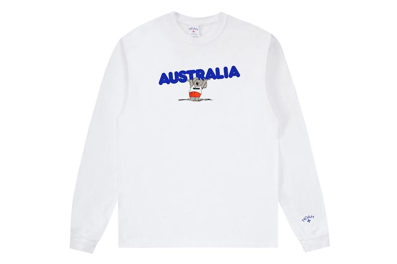 noah Australia wildfire wildlife benefit long sleeve tee tees charity koala white yellow blue release date info photos price