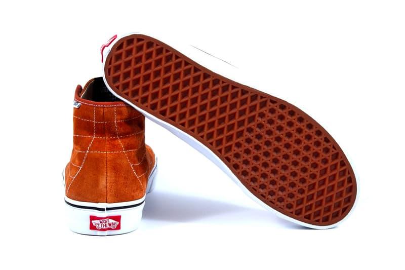 NOAH Vans Sk8 Hi Decon Petrol tobacco hi top sneakers runner skateboard shoes skate kicks footwear runners trainers suede leather Brendon Babenzien waffle sole exclusive