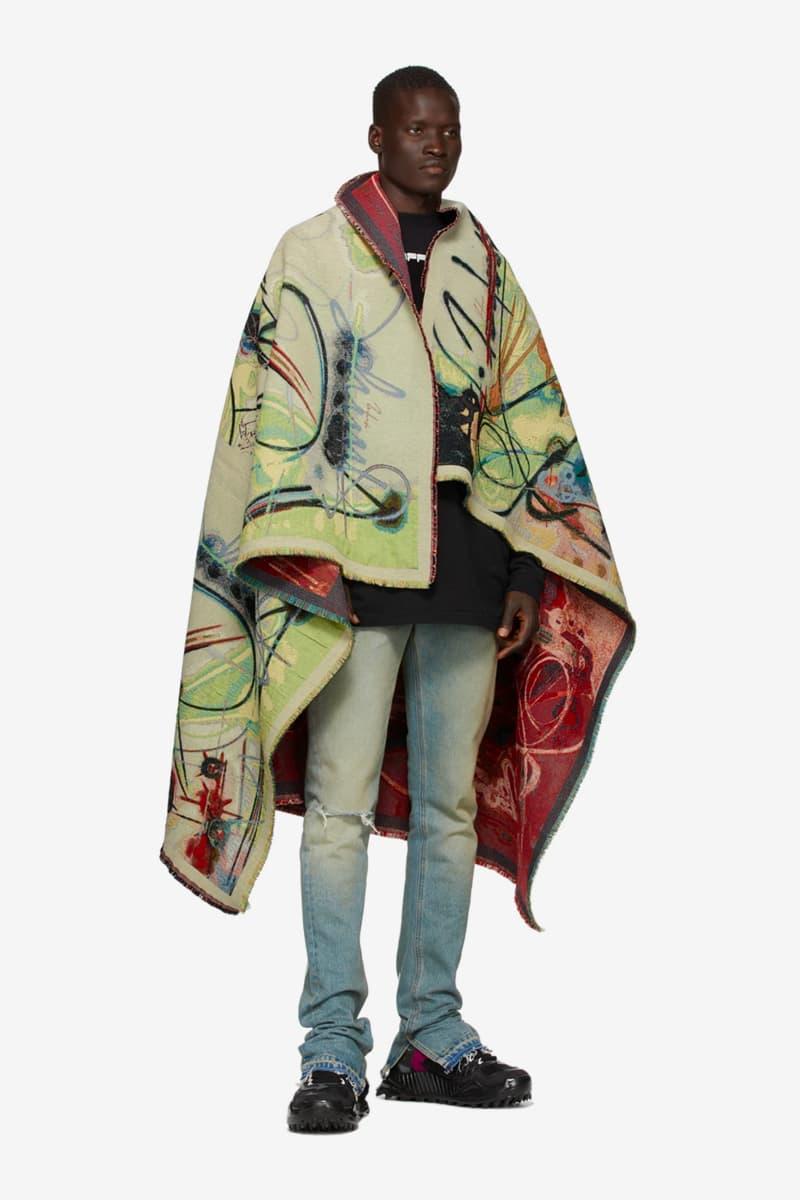 Off-White™ Multicolor Futura 2000 Spray Blanket Release Info Buy Price Virgil Abloh