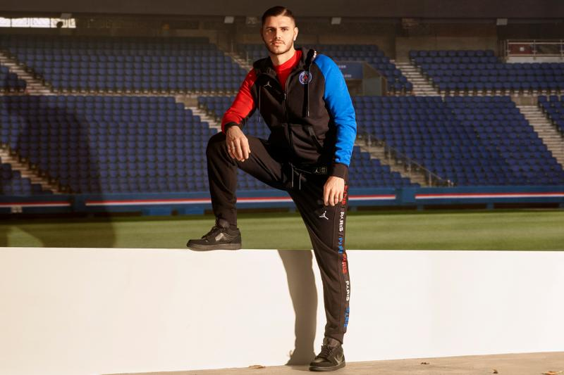 Paris Saint-Germain x Jordan Brand SS20 Capsule full looks collection psg football soccer collaborations red white blue football shoes sneakers nike