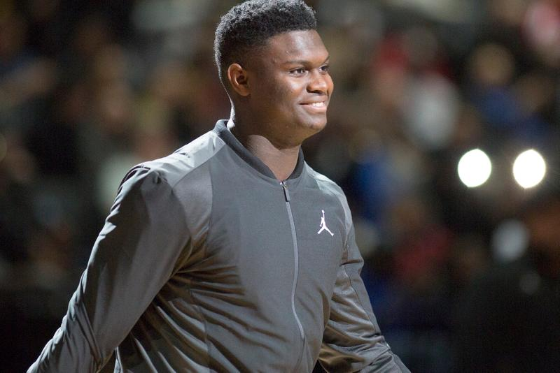 Zion Williamson Teases PSG x Jordan Brand SS20 paris saint germain spring summer 2020 football soccer basketball track suit