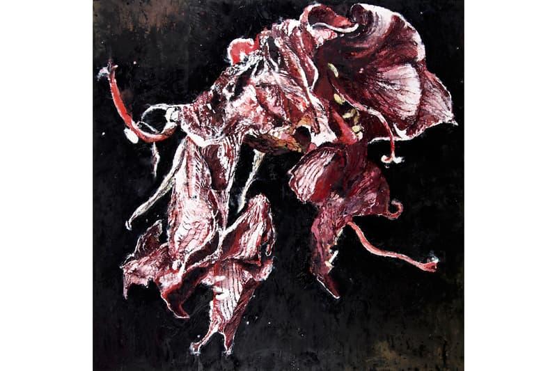 """Philippe Cognée """"Carne Dei Fiori"""" Exhibition Galerie Templon Flowers Wax Paintings Encaustic"""