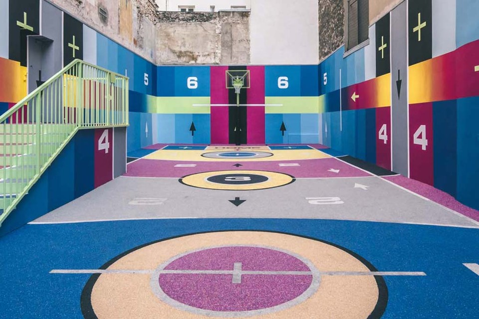 Pigalle and Nike Debut Vibrant New Parisian Basketball Court