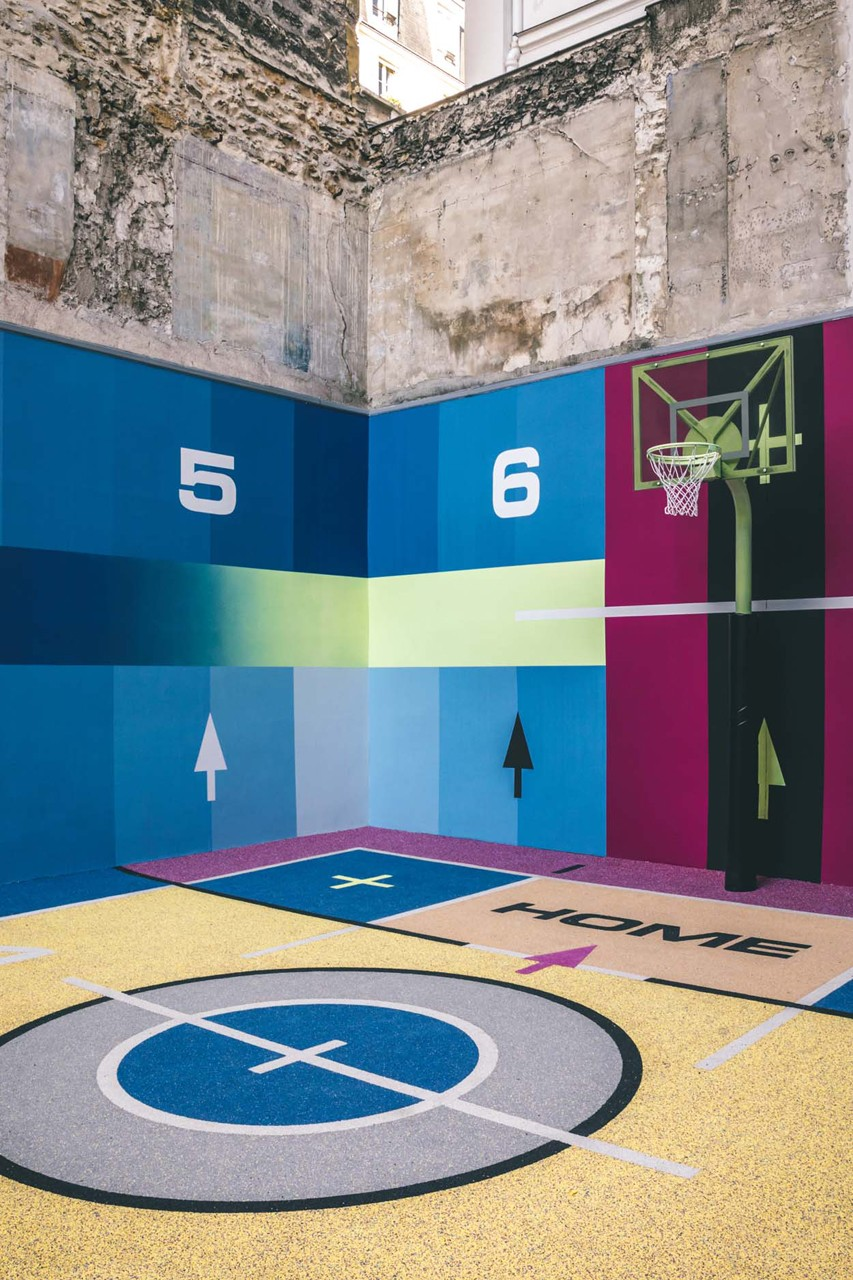recycled basketball flooring nike store