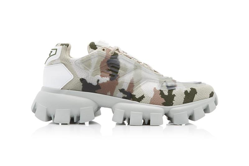 Prada Camo Rubber-Knit Sneakers Release Where to buy Price 2020